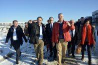 visite de chantier laurent Wauquiez et Pierre Jarlier en 2017