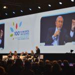 """Le ministre de l'Intérieur Gérard Collomb lors du débat """"Communes et intercommunalités, moteurs d'une nouvelle dynamique"""""""