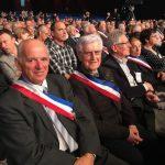 Robert Boudon, maire de Lieutadès et Michel Duriol, maire de Saint-Martin-sous-Vigouroux
