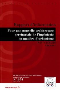 rapport pour nouvelle architecture territoriale JARLIER