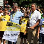 Pierre JARLIER donne le départ du Tour de France à saint-flour pour la 10e étape