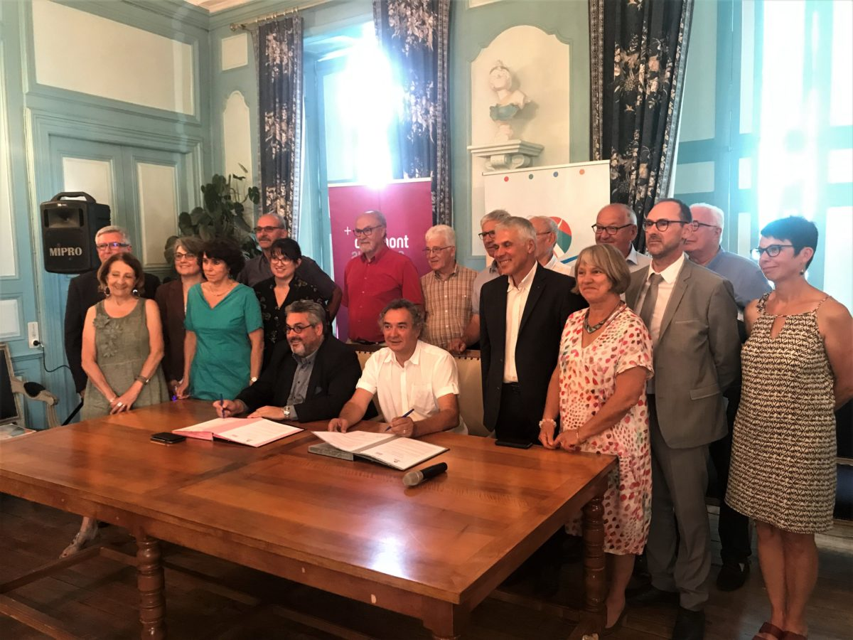 Pierre JARLIER et oliver bianchi signe in contrat de reciprocite