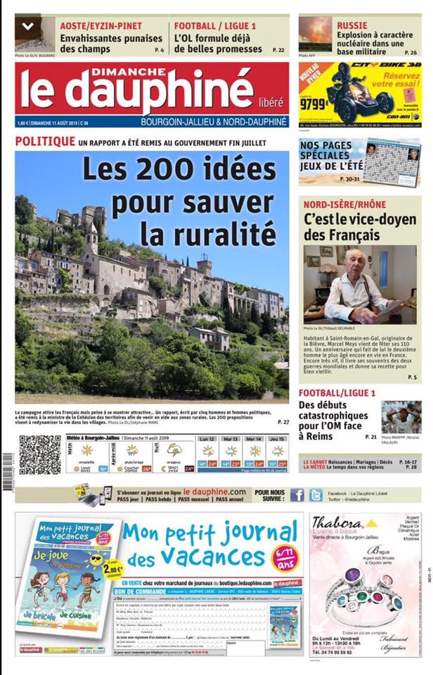 le dauphine libere-agenda rural-11aout