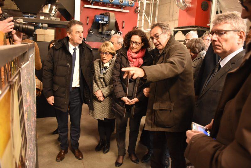 Pierre JARLIER fait visiter la nouvelle chaufferie bois de Saint-Flour qui alimente 17 bâtiments